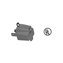 3-Prong AC Grounding Adapter - 3 Prong Female Edison to 2 Prong Male Edison