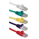 1 Foot 350MHz CAT5e/Ethernet Flexible Snagless Multi-Color Patch Cords - 5 Pack