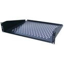 Ventilated Black Finish Rackmount Shelf - 2RU