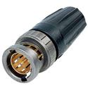 Neutrik NBNC75BJP9X 4K/8K 12G-SDI UHD rearTWIST 75 Ohm BNC Crimp Connector for Belden 1505F