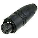 Neutrik NC3FXX-HD-B-D 3 Pole Female XLR Heavy Duty Connector (Black Housing) - 25 Pack
