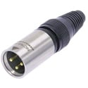 Neutrik NC3MX-HD-B Water Resistant 3-Pin XLR Male Cable End Gold Contacts