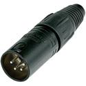 Neutrik NC4MX-BAG 4 Pole Male Cable Conn - Black Metal Housing - Silver Contacts