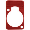 Neutrik DSS-Red D-Series XLR Lettering and ID Plate Red