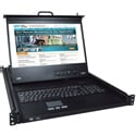 Network Technologies RACKMUX-4K17-N Rackmount 4K KVM Drawer with 4K HDMI USB 4-Port KVM Switch