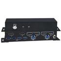 NTI UNIMUX-DP4K-2DH 2-Port Dual Monitor 4K DisplayPort USB KVM Switch with Built-In USB 3.2 Hub