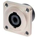 Neutrik NLT4MP 4 Pole speakON Metal Chassis Mount Speaker Connector Square G Size Flange