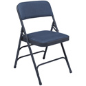 National Public Seating 1304 Folding Chair - Blue - Carton of 4