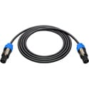 Sescom NSP4-3 Neutrik NL4FC 4-Pole speakON to 4-Pole SpeakON Speaker Cable - 3 Foot