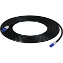 NTW NLED-U6-003BK 3FT LED Tracing Category 6 Patch Cord Black