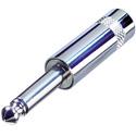 Rean NYS201 1/4 Inch 2-Pole Mono Plug Short Handle Nickel/Silver