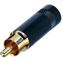 Rean NYS352BG RCA Plug with Gold Contacts & Black Plated Handle