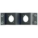 Neutrik NZPFD-2 Z-Panel Frame Plate 2 D-Size opticalCON Knockouts - No Connectors