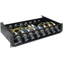 OCC RC2U88LPISP02R88A Broadcast SMPTE 8x8 Splice Enclosure with LEMO Plug and 6.35-9.65 Cable Gland