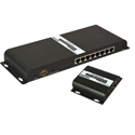 Ocean Matrix OMX-HDMI-HDB1X8 1080p 1x8 HDbitT HDMI Splitter & CAT6 Extender Kit with IR Control 8 Receivers