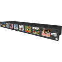 Osprey MVS-8 1RU 8 Channel 3G-SDI 19 Inch LCD Rackmount Multi Viewer with Audio Bars and Time Code Display