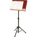 OnStage SM7312W Conductor Stand with Wide Rosewood Bookplate