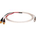 Sescom P/MPS-2P-6 Plenum Audio Cable 3.5mm TRS Mini Male to Dual RCA Male - 6 Foot