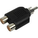 Connectronics P-2PF RCA Male to 2 RCA Female T Adapter