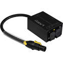 Laird PAC-T1T1F 12/3-SJ 20A TRUE1 Male Female Combo Chassis to TRUE1 Female Power Adapter - 1 Foot Pigtail