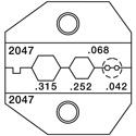 Greenlee PA2047 VDV Crimper Die Set for RG59/Belden 8281 & 50 & 75 Ohm Connectors