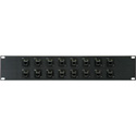 MCS PB16-R4R4-C6 2RU 16-Point Cat6 RJ45 Feed Thru Patch Panel