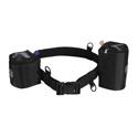 Portabrace BP-LB47 Lens Belt Nylon belt with 4-inch & 7-inch Lens Cups - Black