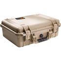 Pelican 1500NF Protector Case with No Foam - Desert Tan