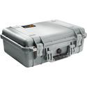 Pelican 1500NF Protector Case with No Foam - Silver