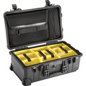 Pelican 1510SC Protector Studio Case with Padded Dividers and Lid Organizer - Black
