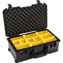 Pelican 1535WD Air Carry-On Case with Padded Divider Set - Black