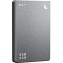 Angelbird PKTU31MK2-1000PK SSD2GO PKT MK2 Portable and Rugged SSD w/ Full USB-C 3.2 Gen 2 Compatibility - Grey - 1 TB