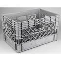 Connectronics PLA-24 24 Quart Film Studio & Video Production Milk Crate - Gray