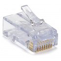 Platinum Tools 100011C EZ-RJ45 Cat 6 Connectors & Strain Reliefs - Clear 30 each