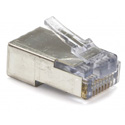 Platinum Tools 100021C EZ-RJ45 Shielded CAT5/5e/6 Shielded Connectors Internal Ground - Solid/Stranded - 10pk Clamshell
