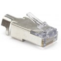 Platinum Tools 100022 EZ-RJ45 CAT5/5e/6 Shielded Connectors w/ External Ground - Solid or Stranded - 50 Pack