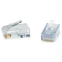 Platinum Tools 100028C ezEX44 10G RJ45 Connectors for 0.039 to 0.044 Conductors POE-  50 Pack Clamshell