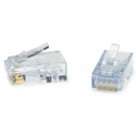 Platinum Tools 100029C ezEX48 10G RJ45 Connectors for 0.043 to 0.048 Conductor Sizes and POE - 50 Pack Clamshell