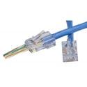 Platinum Tools 105004 EZ-RJ45 CAT6 Connectors for Solid or Stranded Conductors - 500 Pack