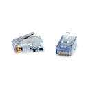 Platinum Tools 105024 ezEX44 10G RJ45 Connectors for .039in to .044in Conductor Sizes and POE - 500 Pack