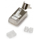Platinum Tools 106242 Shielded 10G RJ45 Connector for Cat6A/7 & Cables with 28 - 26AWG - 50 Pack