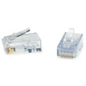 Platinum Tools 202048J ezEX48 10G RJ45 Connectors for 0.043 to 0.048 Conductor Sizes and POE - Jar of 100
