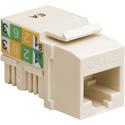 Platinum Tools 726LA-50 CAT6 Keystone Jack - 110 - Light Almond - 50 Pack
