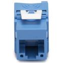 Platinum Tools 752BL-1 Keystone Cat6A Jack UTP Tool-less - Blue - 1 each bagged