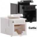 Platinum Tools 766WH-1 Cat5e Keystone Coupler - F to F - White UTP - 1 Piece