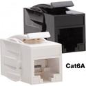 Platinum Tools 770BK-1 Cat6A Keystone Coupler - F to F - Black UTP - 1 Piece