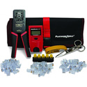 Platinum Tools 90147 ezEX-RJ45 Cat5/5e Cat 6/Cat 6A Terminate & Test Kit