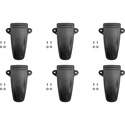 Pliant Technologies CRP-CLIP-6PK CrewCom Pack Replacement Belt Clip Kit - 6 Pack