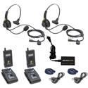 Pliant Technologies MicroCom 900M Wireless Intercom Kit with 2x MicroCom 900M Belt Packs & 2x SmartBoom LITE Headsets