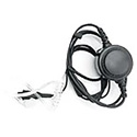 Pliant Technologies PHS-LAVPTT-DM MicroCom Lavalier Mic and Eartube - PTT Button with Dual Mini Connector for MicroCom